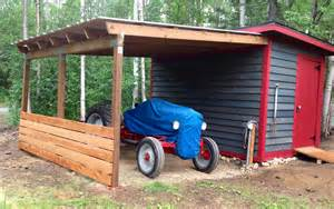 my lean to roof with a shed upgrade for my 1950 8n tractor