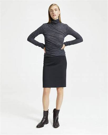 Skirt Pencil Pull Theory Knit Skirts Scuba