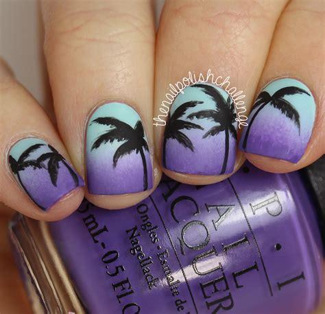 palm tree nail design kelli marissa inspired sunset gradient palm tree nail