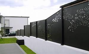 Cloture Bois Design : mixte lames aluminium panneaux amandier clotalys claustras fermetures design aluminium ~ Melissatoandfro.com Idées de Décoration