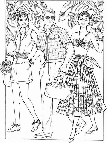 Coloring Pages 1950s Dover Creative Haven Publications