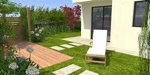 terrasse en rez de jardin avec une pergola mon jardin en With amenagement de jardin photos
