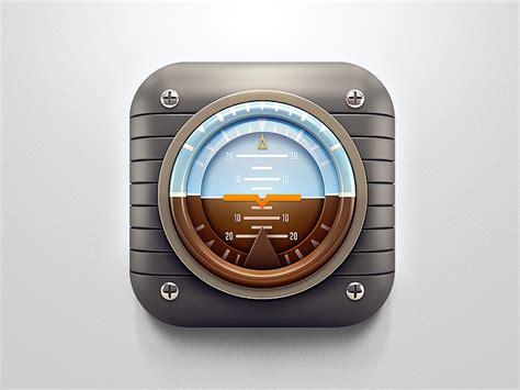 retro plane artificial horizon  icon  ali rahmoun