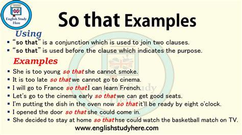 examples english study