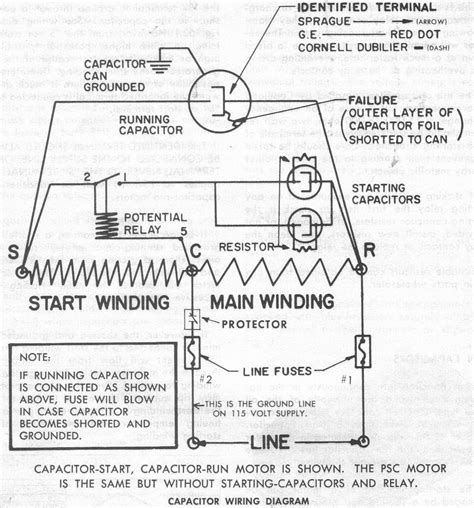 Compressor Wiring Diagram For Capacitor by Baldor Motor Capacitor Wiring Diagram Impremedia Net