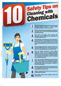 Safety Poster : 10 Safety Tips on Cleaning with Chemicals - Safety ... Chemical Safety