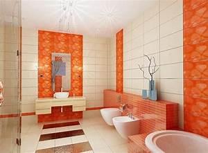 Salle De Bain Orange : salle de bain orange 54 id es pour inspirer votre d co ~ Preciouscoupons.com Idées de Décoration