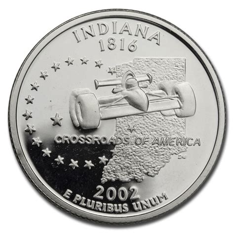 Buy 2002 S Indiana State Quarter Gem Proof Silver Apmex