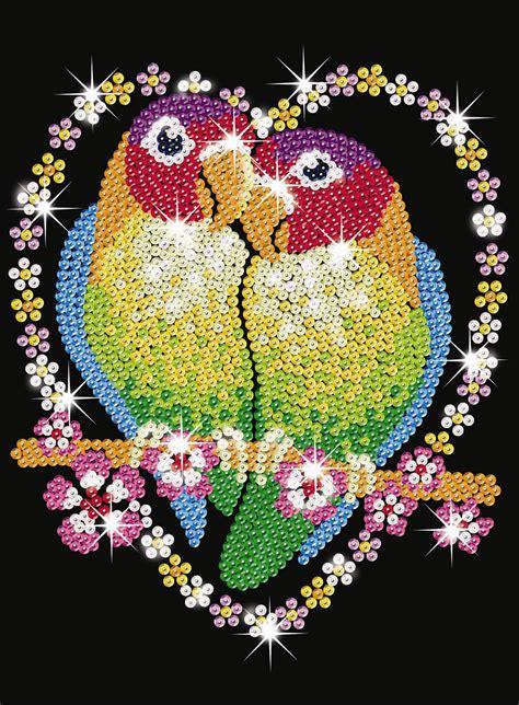 sequin art love birds sa ksg hobbies