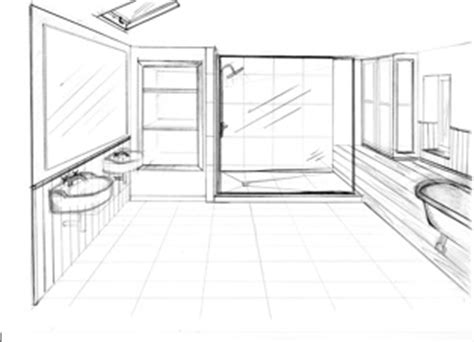 bathroom interior design development sketches
