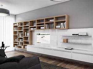 white entertainment wall unit