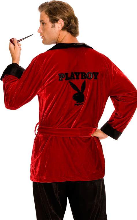 C566 Licensed Playboy Men's Hugh Hefner Smoking Jacket ...