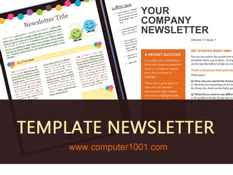 gratis  template newsletter microsoft word