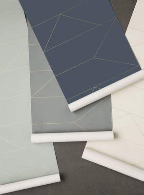 papier peint ferm living lines   cm bleu