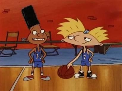 Basketball Cartoon Hey Arnold Tv Giphy Gifs