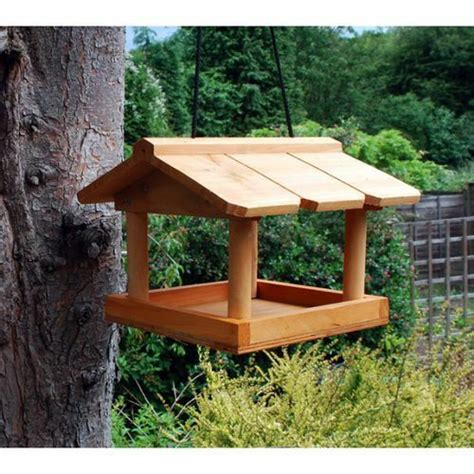 hanging wooden bird table garden birds pet tree bracket