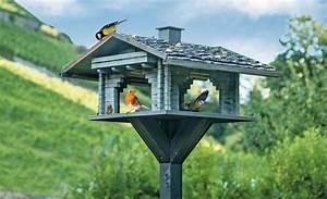 vogelhaus blockhaus futterhaus nisthilfen selbstde With französischer balkon mit garten blockhaus bauen