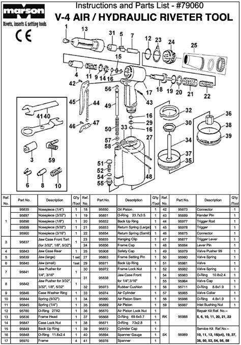 Marson V-4 Air-Hydraulic Rivet Gun | Pneumatic Rivet Tool
