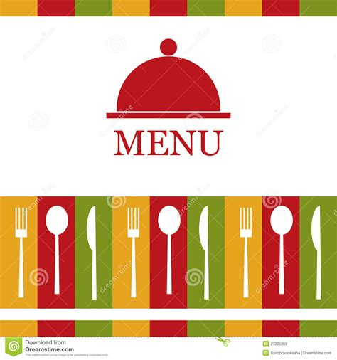 vector restaurant menu royalty  stock images image