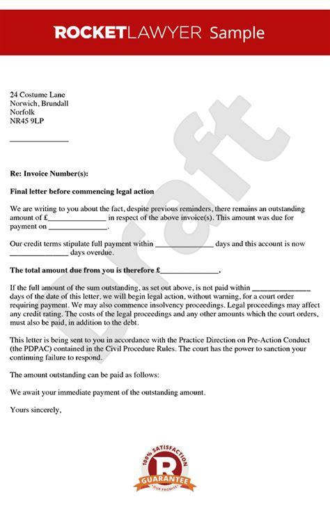 letter  action letter  claim letter