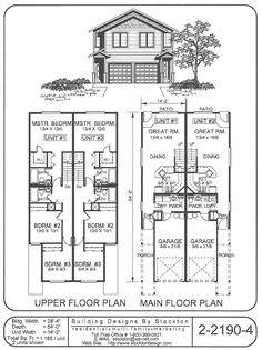 duplex house plans rare stacked   duplex design wwwhouseplanspro duplex house