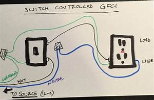 Wire A Switch To Power A Gfci Outlet - Electrical