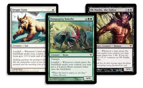 mtg landfall deck list applied mechanics magic the gathering