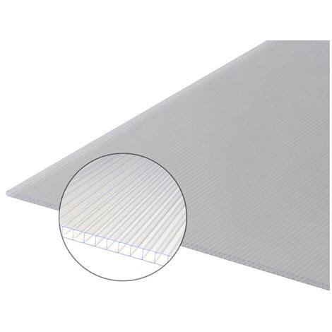 plaque polycarbonate alvéolaire plaque polycarbonate alv 233 olaire 10mm coloris translucide largeur 61 4 cm longueur 0 97