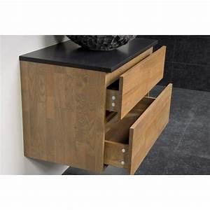 saniclass natural wood meuble salle de bain avec miroir With salle de bain design avec meuble salle de bain 80 cm suspendu