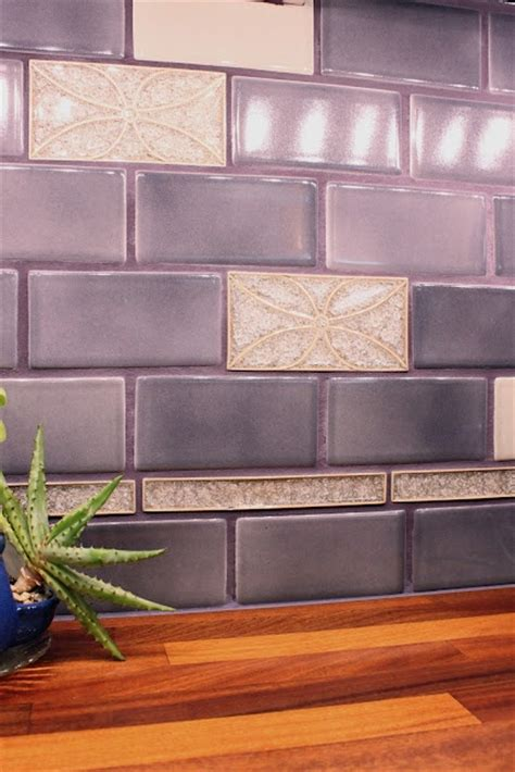 purple kitchen backsplash violet tile backsplash julie s kitchen purple kitchen pinterest i want colors and plush