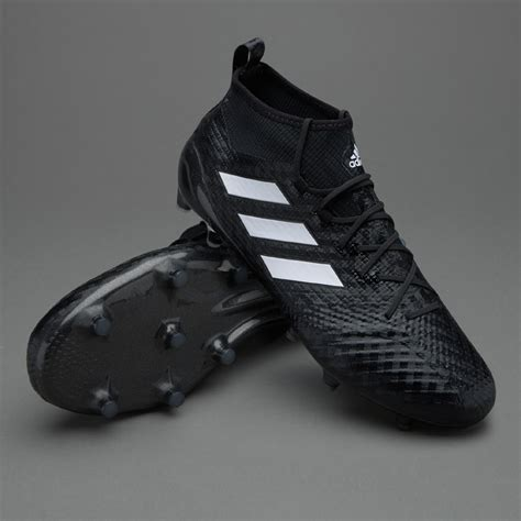 adidas ace  primeknit fg mens boots firm ground core blackwhitenight metallic