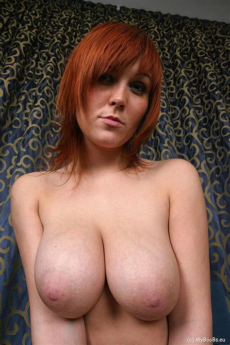 busty redhead ania colette shows her tits boobgoddess
