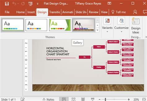 create customized organization charts  slideshows fppt