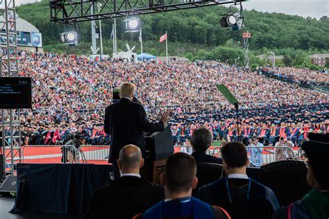 president trump    commencement speech