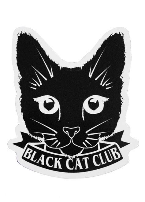 extreme largeness black cat club sticker attitude clothing
