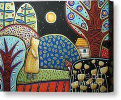 karla gerard painting canvas prints fox encounter canvas