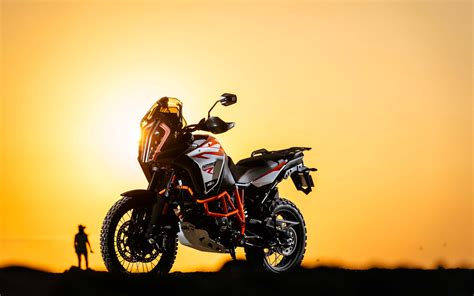 Download Wallpapers Ktm 1290 Super Adventure R, Sunset
