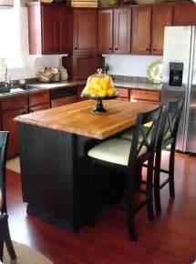 black kitchen island with butcher block top make your own butcher block kitchen island archives home updates