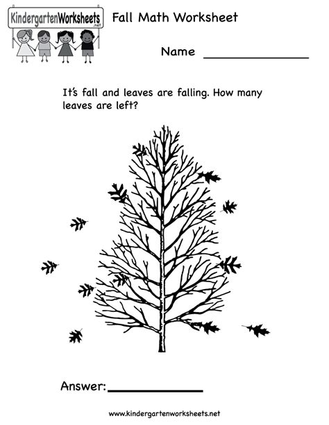 7 best images of fall math worksheets printable