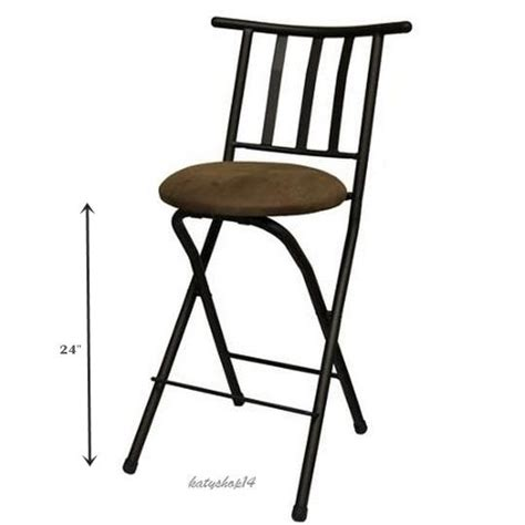 folding 24 quot counter stool barstool slat back bronze beige
