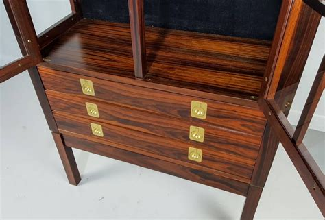 lighted curio cabinet for sale rosewood lighted curio cabinet by torbjørn afdal norway