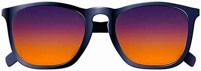 Sunglasses Sunset Clipart Transparent Colors Colored Colorful