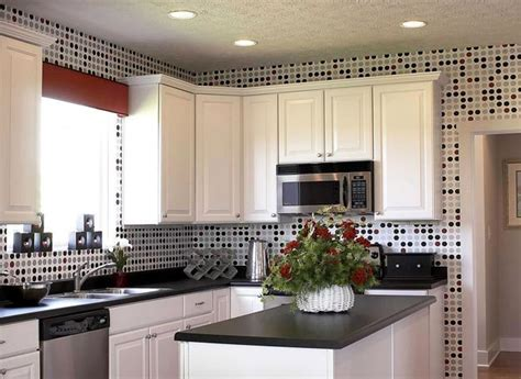 wallpaper ideas for kitchen white kitchen cabinets and modern wallpaper ideas for