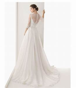 2016 lace sheer bridal gowns boat neck vestidos de novia With boat wedding dress