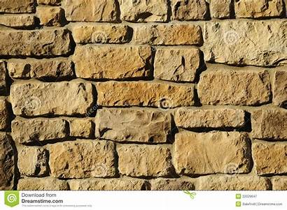 Block Masonry Irregular Wall Surface Sunlight Yellowish
