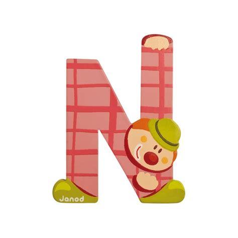 lettre prenom chambre lettre en bois clown janod n