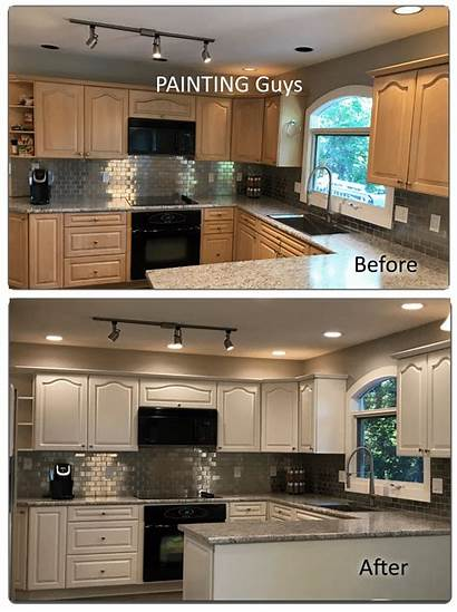 Kitchen Painting Cabinet Cabinets Before Guys Vancouver
