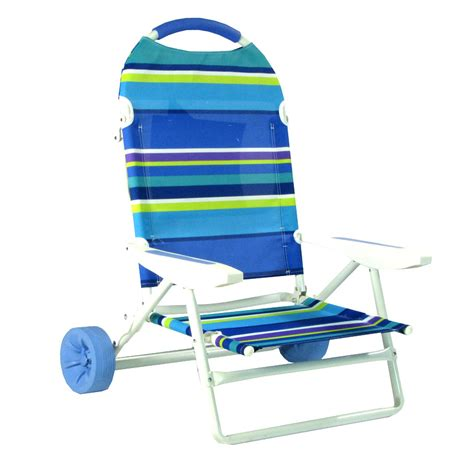 chaise de plage pliante folding chair on wheels cart by on the hunt
