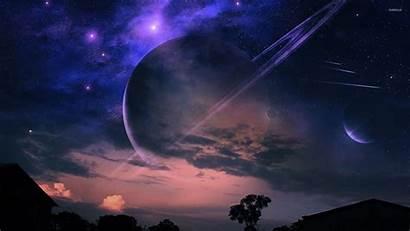 Sky Night Fantasy Wallpapers Planets Desktop Planet