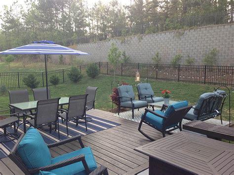 nc concrete patio and deck expansion project